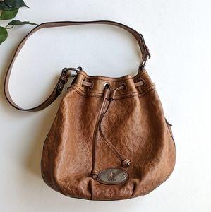Fossil Maddox Drawstring Bucket Leather Purse Bag